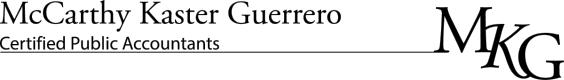 MCCARTHY KASTER GUERRERO CPAS