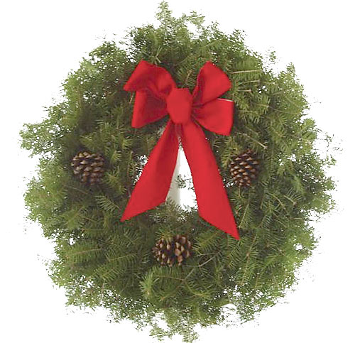 Double Deluxe Balsam Wreath