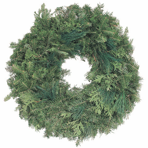 Double Plain Balsam Wreath