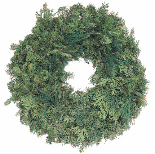 Single Plain Balsam Wreath