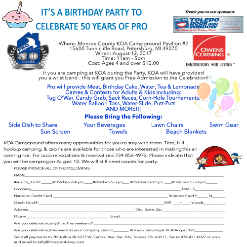 PRO 50th Birthday Party